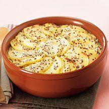 Recette WW - Gratin de pommes de terre à la moutarde
