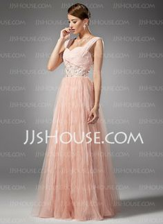 A-Line/Princess Sweetheart Floor-Length Chiffon Prom Dress With Ruffle Beading 169.55$