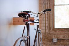 Elevate Bike Rack Cedar/Birch by ElevateWoodworks on Etsy Cool Bicycles, Vintage Bicycles, Wood Bike Rack, National Bike Month, Ikea, Barn Wood Projects, Bike Rider, Bike Storage, Home Deco