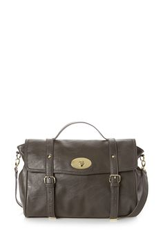 Iconic Faux Leather Messenger Bag | FOREVER21 - 1000090414
