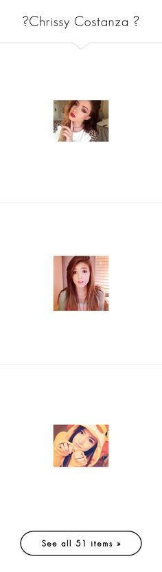"""""""►Chrissy Costanza ◄"""" by cliffordsmofos-clippings ❤ liked on Polyvore featuring chrissycostanza, chrissy costanza, chrissy, chrissy constanza, jewelry, earrings, hairstyle's, hair and sky"""