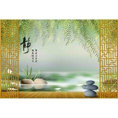papier peint 3D asiatique sur mesure paysage zen