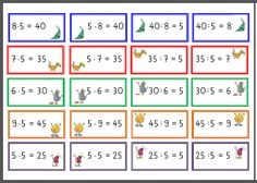 folge5-lelgespiel-teil2 Kindergarten Math Worksheets, Back To School, Kids, School Carnival, Dyscalculia, Multiplication, Multiplication Tables, Teaching Materials, First Grade