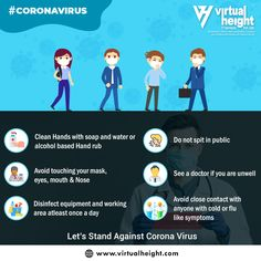 The best way to prevent illness is to avoid being exposed to this COVID-19. Here we provide 6 important steps you should take to stay healthy.!    #coronavirus #coronavirustips #covid19 #CoronavirusPrevention #covid19advice #coronavirusindia #corona #coronaawareness #staysafe #stayhealthy #takecareofyourself #virtualheight #ahmedabad