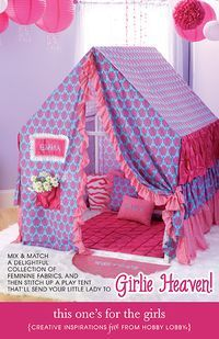 This Adorable Tent For Girls Is Made From A Delightful Collection Of  Fabrics That Sheu0027s Sure
