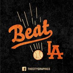 We beat LA because we're awesome and they kinda suck. Sf Giants Game, Sf Giants Players, My Giants, Giants Baseball, Giants Dodgers, Hockey, All Tomorrow's Parties, No Crying In Baseball, The Sporting Life