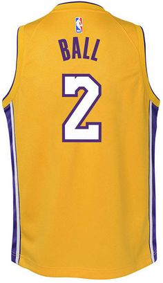 c69c3b211da Nike Lonzo Ball Los Angeles Lakers Icon Swingman Jersey
