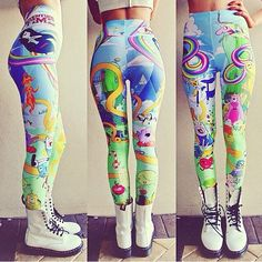Adventure time pants leggings jeggings