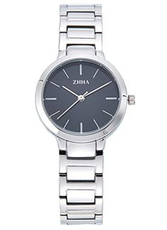 ZHHA Womens 062 Elegant Quartz Black Dial Silver Stainless Steel Bracelet Wrist Watch Waterproof >>> Read more  at the image link. (Note:Amazon affiliate link)