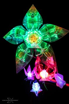 Large Magic Flower. Шоу роботов. Шоу роботизированных интерактивных цветов.