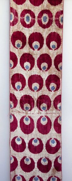 silk and cotton velvet - alabahman - ikat fabric
