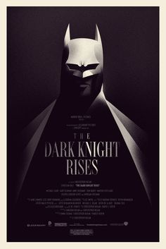 The Dark Knight Rises poster by Olly Moss.