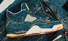 official photos c3c18 a2786 Levi s X Air Jordan 4