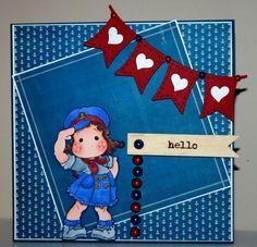 Handmade Sailor Tilda card by rbowen on Etsy, $4.25
