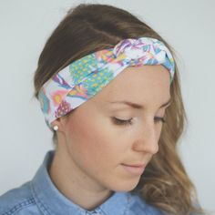 Sorbet feathers knotted headband by TITOT Fashion.