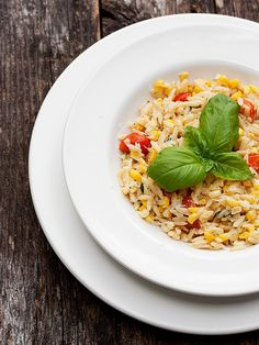 Orzo with Corn, Tomatoes and Basil (uses fresh basil and cream) This ...