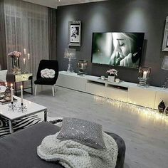 10 Comfortable and Cozy Living Rooms Ideas You Must Check! Most comfortable and cozy living room I Ikea Living Room, Cozy Living Rooms, Apartment Living, Interior Design Living Room, Home And Living, Living Room Designs, Modern Living, Modern Tv, Cozy Apartment