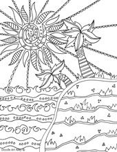 Awesome website of free doodle coloring pages