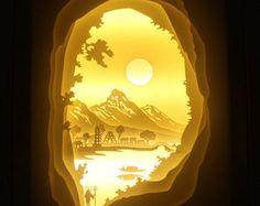 Lightbox Alice in wonderland paper cut Light box by trysogodar