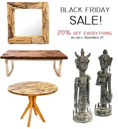 Black Friday Sale on now until Sunday November 27. Shop online or in store and save 20% off store-wide!  www.zenporium.com  #shoponline #storewidesale #getitwhileitlasts #rusticfurniture #recalimedwoodfurniture #salvagedwoodfurniture #coffeetables #benches #sidetables #petrifiedwood #desks #InteriorDesign #rusticdecor #solidwood #blackfridaysale #Zenporium #guiltfreewood Petrified Wood, Sale On, Rustic Furniture, Desks, Benches, Rustic Decor, Black Friday, Solid Wood, November
