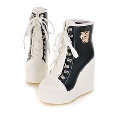 Wedge Ankle Boots, Black Ankle Boots, High Heel Boots, Shoe Boots, Shoes Heels, Boot Wedges, Platform Boots, High Heels, Top Shoes