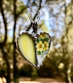 Necklace Broken China Jewelry Broken China Necklace Heart