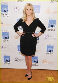 Reese Witherspoon wearing Manolo Blahnik BB Suede Point-Toe Pumps,