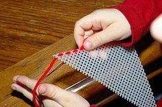 sewing plastic canvas - and other great beginning sewing lessons for kids!