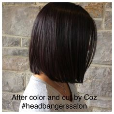 Beautiful color &cut by Coz. #headbangerssalon #brunette #lob # devonpa #hairstyles #wellahair #wellalife