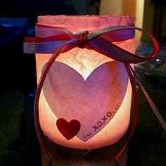 Make your own valentines candle holder ; Valentine Crafts For Kids, Funny Valentine, Valentine Decorations, Be My Valentine, Crafts To Make, Valentine Gifts, Fun Crafts, Valentine Ideas, Pumpkin Spice Candle