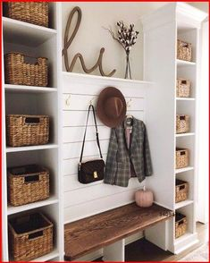 Home Renovation, Home Remodeling, Mudroom Laundry Room, Bench Mudroom, Entryway Decor, Entryway Storage, Entryway Bench, Small Apartment Entryway, Entrance Hall Decor