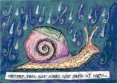 snail art | Art: Snail Mail by Artist Sara Field