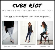 Style inspiration: For polished, casual style, wear one structured piece.