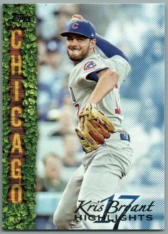 2018 Topps Series 1 KRIS BRYANT Highlights SP BLUE Parallel Card KB-12 *WALMART* Baseball Bases, Baseball Live, Cubs Cards, Tampa Bay Rays, Babe Ruth, Player 1, Highlights, Walmart, Blue