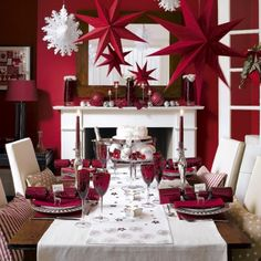 Lovely Red And White Christmas Tablescape