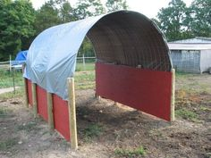 horse shelter {use clear and tinted hard poly roofing} or make bigger for an area to saddle up