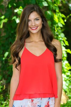 Must have tomato red tank top. Repin if you love!