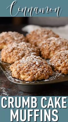 Crumb Cake Muffins: These are a HUGE family favorite! Moist & tender sour cream coffee cake with plenty of cinnamon-y streusel topping. Banana Recipes, Easy Cake Recipes, Cupcake Recipes, Sweet Recipes, Dessert Recipes, Easy Crumb Cake Recipe, Banana Coffee Cakes, Crumb Coffee Cakes, Coffee Cake Muffins