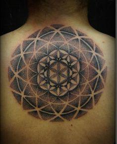 sacred geometry head tattoos - Google Search