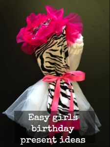 Easy birthday present idea for a little girl - leg warmers and tutus! Perfect for dress up and dressing up.