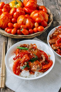 This Beef Tomato Stir-fry recipe comes from old memories of my mother's backyard garden, late summer tomatoes, and a hot wok. See how to make it at home.