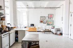 Binnenkijken bij een industriële loft in de hipste wijk van New York - Roomed