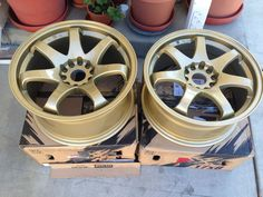 XXR Wheels (Pre-owned 522 Gold Staggered Rims)