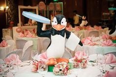 Table centerpiece #marypoppins #jollyholiday #penguin