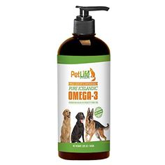 Pure Icelandic Fish Oil Liquid for Dogs and Cats, Natural & Wild Caught, High Potency, Omega 3 Liquid for Pets. Complete balance of EPA & DHA for Skin, Coat and Joints. GMO Free, 32oz Pump Bottle  PURE, NATURAL, OMEGA 3 FOR LARGE DOGS AND CATS: Our Pure Omega-3 Liquid Fish Oil by Pet Life Science is an all-natural fish oil designed to help dogs and cats look and feel energetic and happy. Our liquid fish oil supplement is in a 32oz pump bottle so that it's easy to give to pets with thei...
