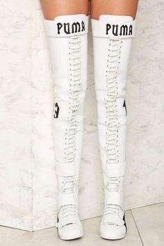 Fenty PUMA par Rihanna Eskiva cuir Sneaker | Boutique Chaussures de Nasty Gal!