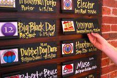 like this tap menu! Brewery Design, Pub Design, Craft Beer Cellar, Brewery Interior, Pub Decor, Brewery Decor, Beer Shop, Café Bar, Home Brewing Beer