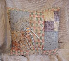 Patchwork Quilt Pillow Vintage Cutter Quilt by ITSYOURCOUNTRY