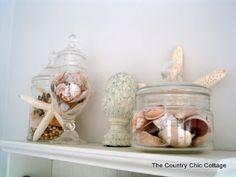 Beach Theme Home Decor for the Bathroom - * THE COUNTRY CHIC COTTAGE (DIY, Home Decor, Crafts, Farmhouse)