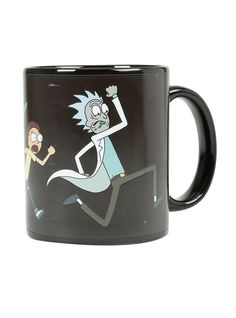 """Black ceramic mug from Adult Swim's <i>Rick and Morty</i> featuring a vibrantly colored heat reactive design. Just add hot water! <br><ul><li style=""""LIST-STYLE-POSITION: outside !important; LIST-STYLE-TYPE: disc !important"""">Ceramic</li><li style=""""LIST-STYLE-POSITION: outside !important; LIST-STYLE-TYPE: disc !important"""">Imported<br></li></ul>"""